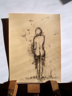 Letting Go  Pregnancy  Birth  Dandelion Seeds  by AmandaNutzman, $50.00