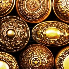 Photo about Vintage brass door knob patterns. Image of abstract, design, vintage - 6004579 Door Knobs And Knockers, Vintage Door Knobs, Antique Door Knobs, Vintage Doors, Antique Doors, Vintage Metal, Brass Door Handles, Knobs And Handles, Color Cobre