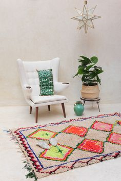 Vintage Moroccan rug from Pink Rug Co. https://www.etsy.com/listing/246291680/been-gazing-out-over-sunshine-63-x-48?ref=shop_home_active_19