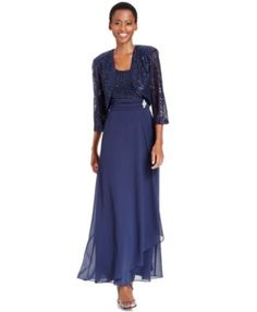 Product j kara long sleeve jacket dress mother of the for Elder beerman wedding dresses