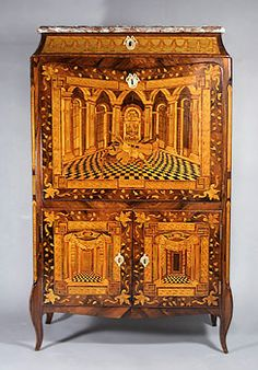 "Secretaire ""à abattant"", Southwest Germany, probably Mannheim, ca 1770"