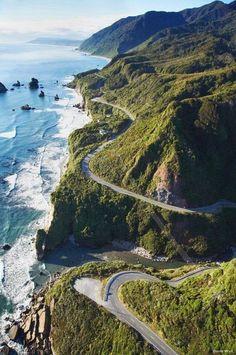 The California coast line.