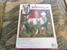 DIMENSION, CHRISTMAS ORNAMENTS SET OF 8 STITCH KIT, SANTA COLLECTION ORNAMENTS  eBay item number:131566335655