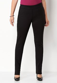 Signature Slimming Ponte Legging. Just got these...comfy & look great!