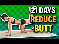 If you think you have a larger-than-normal buttocks then you can reduce butt size easily at home by doing this workout challenge. 21 Day Workout, Full Body Gym Workout, Workout To Lose Weight Fast, Gym Workout For Beginners, Gym Workout Tips, Workout Challenge, Workout Videos, At Home Workouts, Butt Workouts