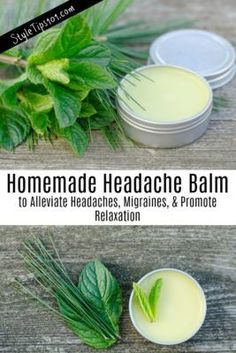 If you suffer from regular headaches or migraines, this homemade headache balm may just help alleviate those painful throbs with just 3 simple ingredients! Homemade Lip Balm, Homemade Moisturizer, Face Scrub Homemade, Homemade Skin Care, Homemade Beauty, Natural Home Remedies, Herbal Remedies, Acne Remedies, Headache Remedies