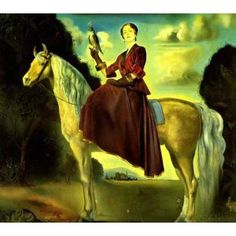 Woman Riding In Dream Reproduction Oil Painting for sale on overArts.com