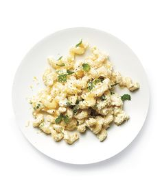 This pasta with ricotta and mint only takes 15 minutes to prepare! @RealSimple