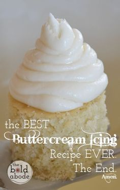 The Best Buttercream Icing Recipe, like ever. - The Bold Abode
