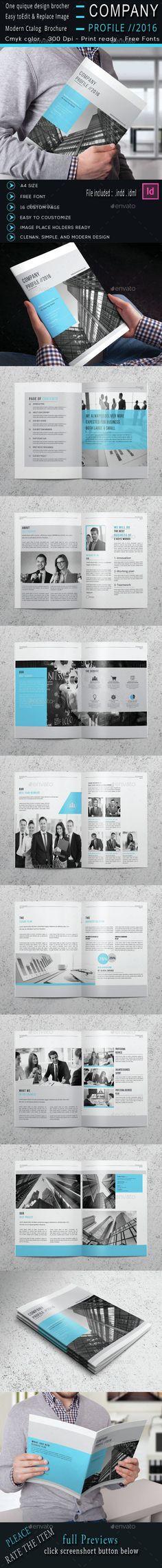Company Profile Company profile, Brochure template and Brochures - profile company template