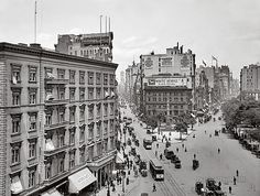 Madison Square from the Flatiron Building. New York City. New York. 1905.