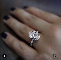 Jean Dousset oval dream ring
