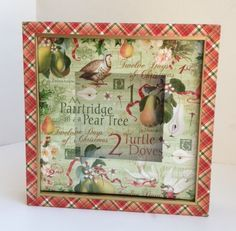 Graphic 45 Twelve Days of Christmas gift altered art CHA Summer 2013 sneak peek Diane's workshop shadowbox