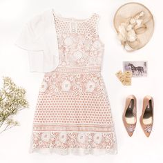After Sunset Dress   Cream And Blush   Dress