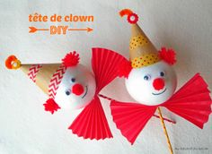 Circus Crafts, Carnival Crafts, Carnival Decorations, Halloween Decorations, Circus Birthday, Circus Party, Craft Activities For Kids, Crafts For Kids, Clown Images