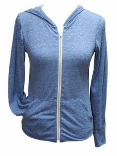 YogaColors Womens Crystal Sporty Soft Hoody Zip Sweater