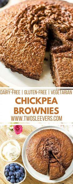 Chickpea Brownies Gluten-Free Dairy-Free Lower Sugar via @twosleevers