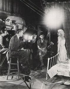 Behind the scenes with Jean Harlow, of Red Dust, 1932