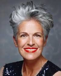 Image result for hair silver short