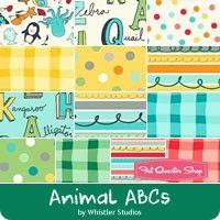 Animal ABCs Fat Quarter Bundle<BR>Whistler Studios for Windham Fabrics