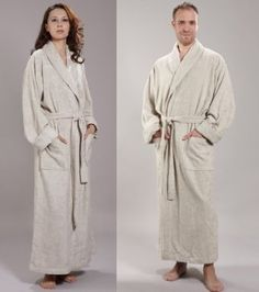 Bathrobes Online - 54% Rayon from Bamboo + 46% Turkish Cotton Bathrobe, Made in Turkey - 5 Sizes Up to 59""