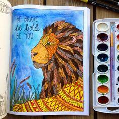 Adult Coloring Book Inkspirations Animal by PaisleyandHazel