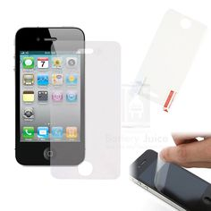 2x 5x 10x 20x High Quality Matte Screen Protector Film Guard For iPhone 4 4G 4S