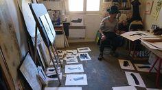 Rémy Gastambide/ Nguyên Bac Ai. Artist Painter, & Musician. Paris. France. 2015.