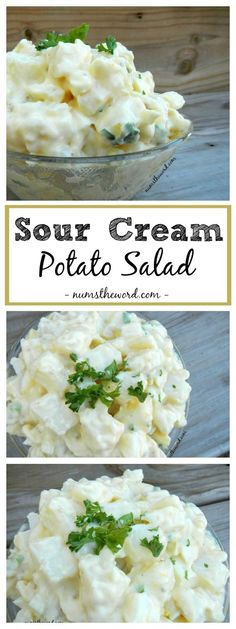 This Sour Cream Potato Salad is easy and delicious! Mixed with Italian dressing and sour cream it's a tasty side dish to a casual or gourmet meal.