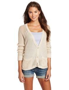 Roxy Juniors Clearing Button Front Sweater Roxy. $46.48. Hi-low hem. Open knit. Zipper closure. Hand Wash. 100% cotton