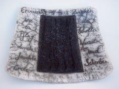 Erinnerung, Gefäß für Gedanken aus Naked Raku Keramik mit Text von Hildegard Schemehl / Poem vessel made in naked raku technique