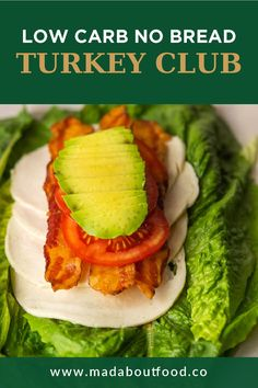 Make this low carb turkey club sandwich for a quick and easy lunch with no bread. It's also paleo, gluten free & whole 30 friendly. A great keto lunch idea that only takes 10 minutes to make! This low carb turkey club recipe is a quick and easy lunch or dinner. No bread, no carbs and very filling. See how to make it here! #lowcarb #turkeyclub Keto Lunch Ideas, Lunch Recipes, Vegetarian Recipes, Whole 30 Recipes, Great Recipes, Turkey Club Sandwich, Easy Low Carb Lunches, Low Carb Sandwiches, Whole 30 Lunch