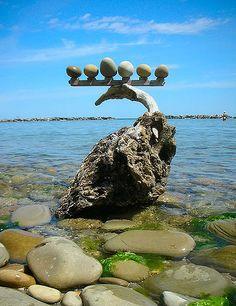 Driftwood&stones balance | by rebranca46