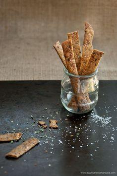 Receta: Paleo Crackers Crujientes (sin gluten, sin frutos secos) | Eva Muerde La Manzana