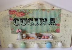 Vintage shabby chic handmade kitchen by ManthaCreaMiniatures