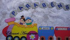 Panel para salon de clases - Niño ABC - Todo en Goma Eva