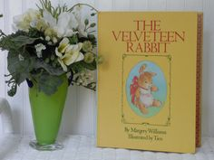 The Velveteen Rabbit - Hardcover Book - Published in 1983 - Ink Inscription Neatly Done - Clean Pages - Bright Colors - Sweet Book by ChicAvantGarde on Etsy
