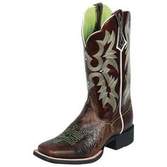 Ariat Chocolate Chip & Brown Patent Cowboy Boots  I want