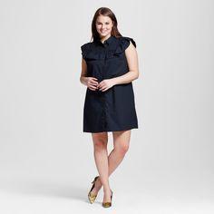 Women's Plus Size Pioneer Shift Dress Black 4X - Who What Wear