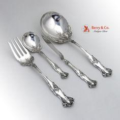 Vintage Grape Pattern Berry Spoon Sugar Spoon Twist Butter Knife Cold Meat Fork