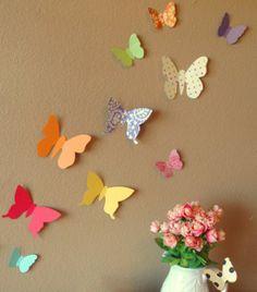 Beautiful Bold Butterflies Handmade Paper Wall Art 30 by PinkPerch, $32.00
