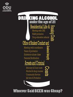 $35.00 Alcohol awareness poster I created.