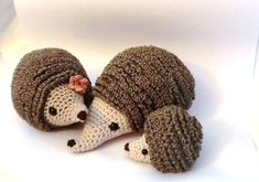 Hedgehog family amigurumi PDF crochet pattern by AmigurumiBarmy