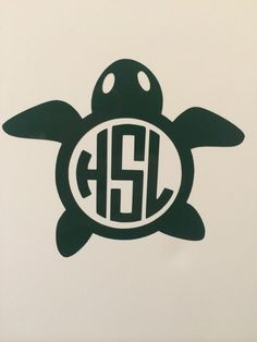 Carlyn Smith Creations Store - Turtle Monogram Decal, $5.00 (http://www.carlynsmithcreations.com/products/turtle-monogram-decal.html)