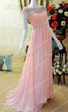 Wholesale Bateau Crystals Sheer Neckline Long Pink Evening Dresses Vintage Short Sleeves Criss Cross Ruched Bodice Elegant Women Formal Prom Gowns Hot, Free shipping, $109.65/Piece | DHgate Mobile