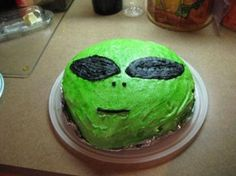 outer space party cake