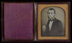 [Portrait of a Seated Man with Chin Whiskers]; John Plumbe Jr. (American, born United Kingdom, 1809 - 1857); about 1841; Daguerreotype; 84.XT.440.1; J. Paul Getty Museum, Los Angeles, California