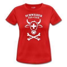 Tonony.com | FUSSBALL SCHWEIZER FAN-CLUB HOPP SCHWIIZ T-SHIRT - Frauen T-Shirt atmungsaktiv | KUH TOTENKOPF FAN T-SHIRTS. EIN MUSS FÜR JEDEN SCHWEIZER FAN. SCHWEIZER T-SHIRT DESIGN MIT EINEM KUHKOPF IM TOTENKOPF TATTOO STYLE. SCHWEIZER SOUVENIRS, SCHWEIZER WAPPEN, EIDGENÖSSISCHES SCHWINGFEST
