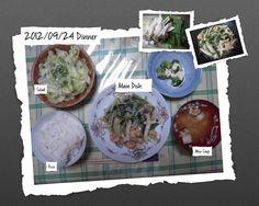 For Dinner on 24/Sep/2012