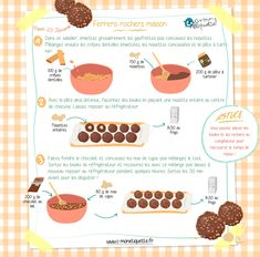 Ferrero rock home Meat Recipes, Cake Recipes, Snack Recipes, Cooking Recipes, Healthy Toddler Breakfast, Recipe Drawing, Gula, Tasty, Yummy Food